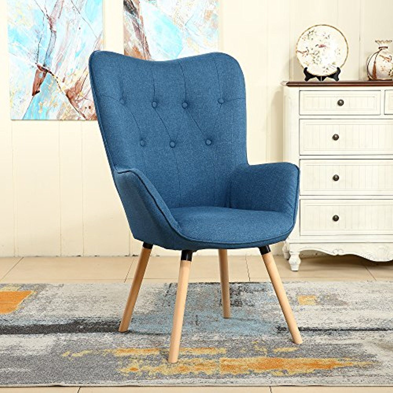 Groovy Lssbought Stylish Fabric Accent Chair Modern Muted Fabric Caraccident5 Cool Chair Designs And Ideas Caraccident5Info