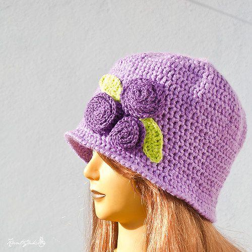 094ca01ad62 Elegantní dámský háčkovaný klobouček   Zboží prodejce Kantýnka