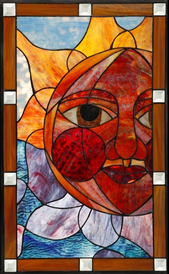 Custom Made Stained Glass Cabinet Door Insert Glass Art Projects