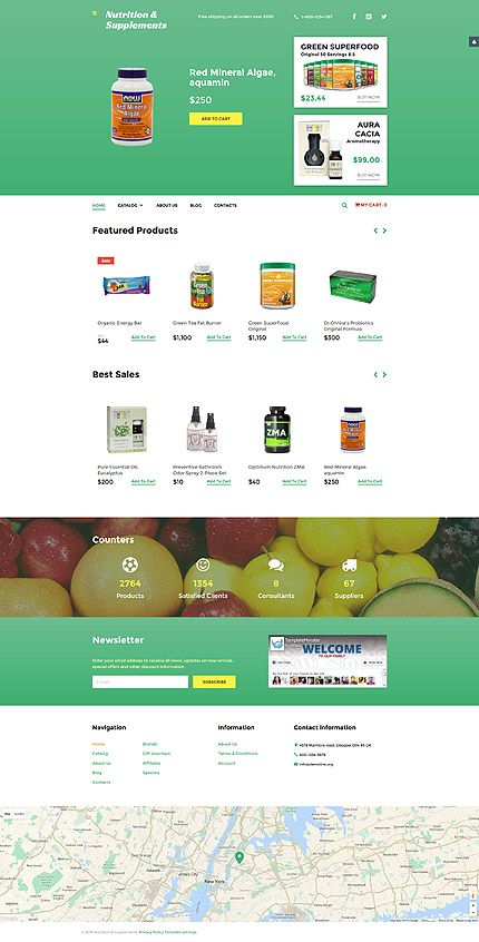 Nutrition Supplements Online Virtuemart Template Themes Business Responsive