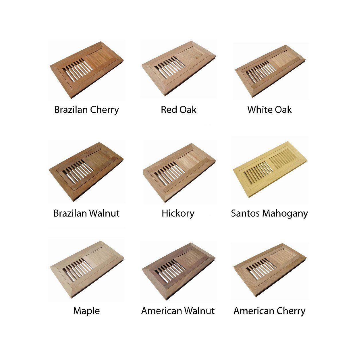 Welland Hardwood Flush Mount Floor Register Vent