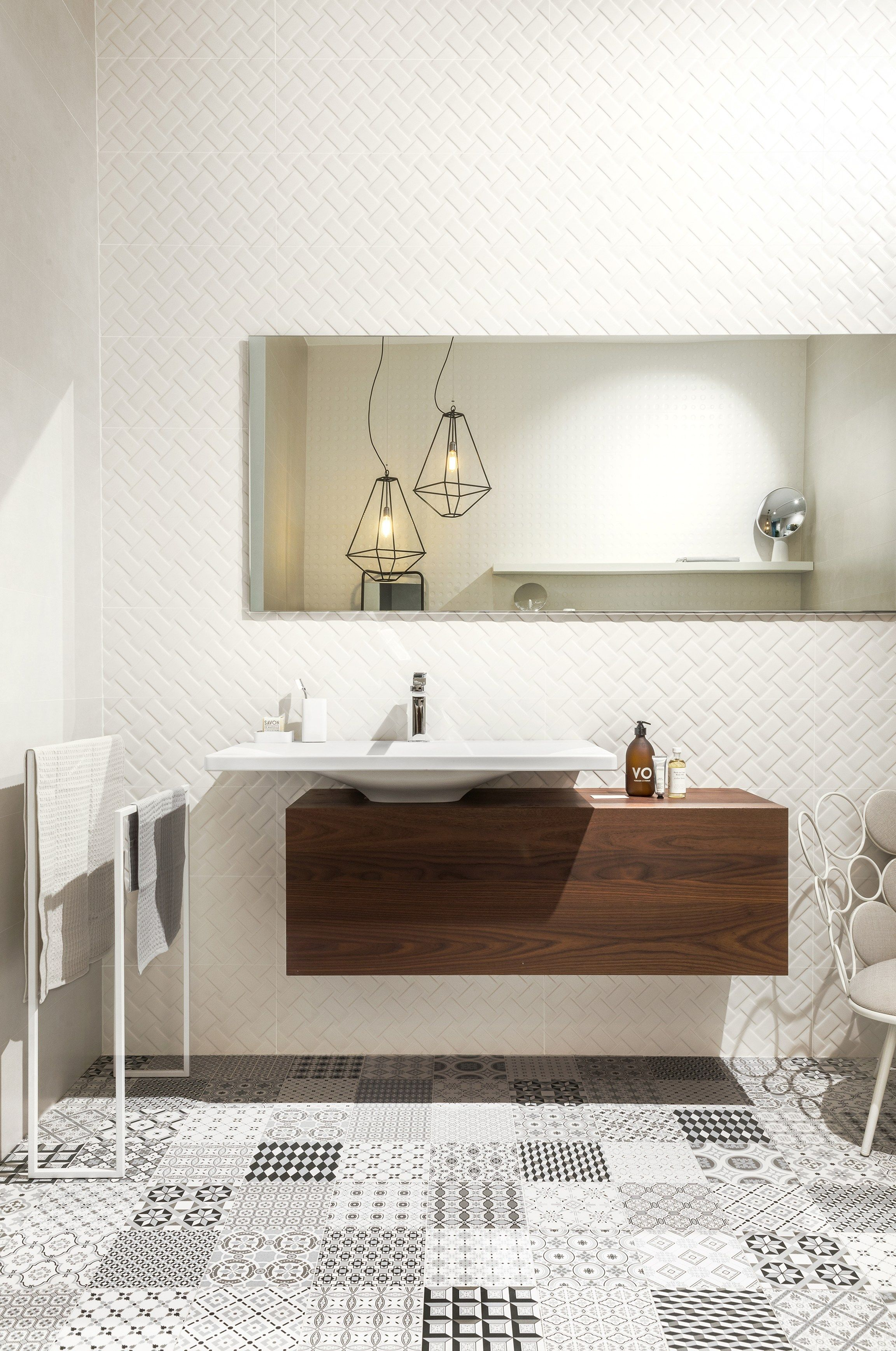White-paste wall tiles METROCHIC - @sant_agostino | Bathroom ...