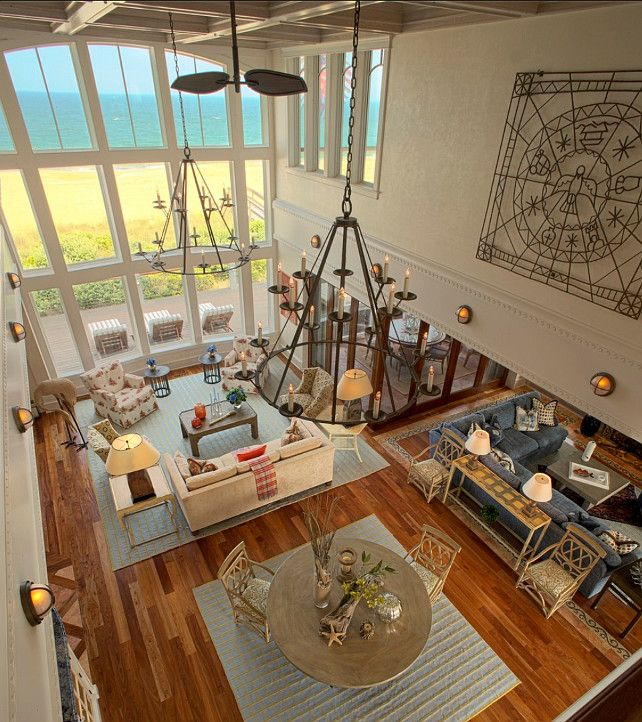 This coastal home has beautiful, timeless Coastal Interiors. #CoastalHomes