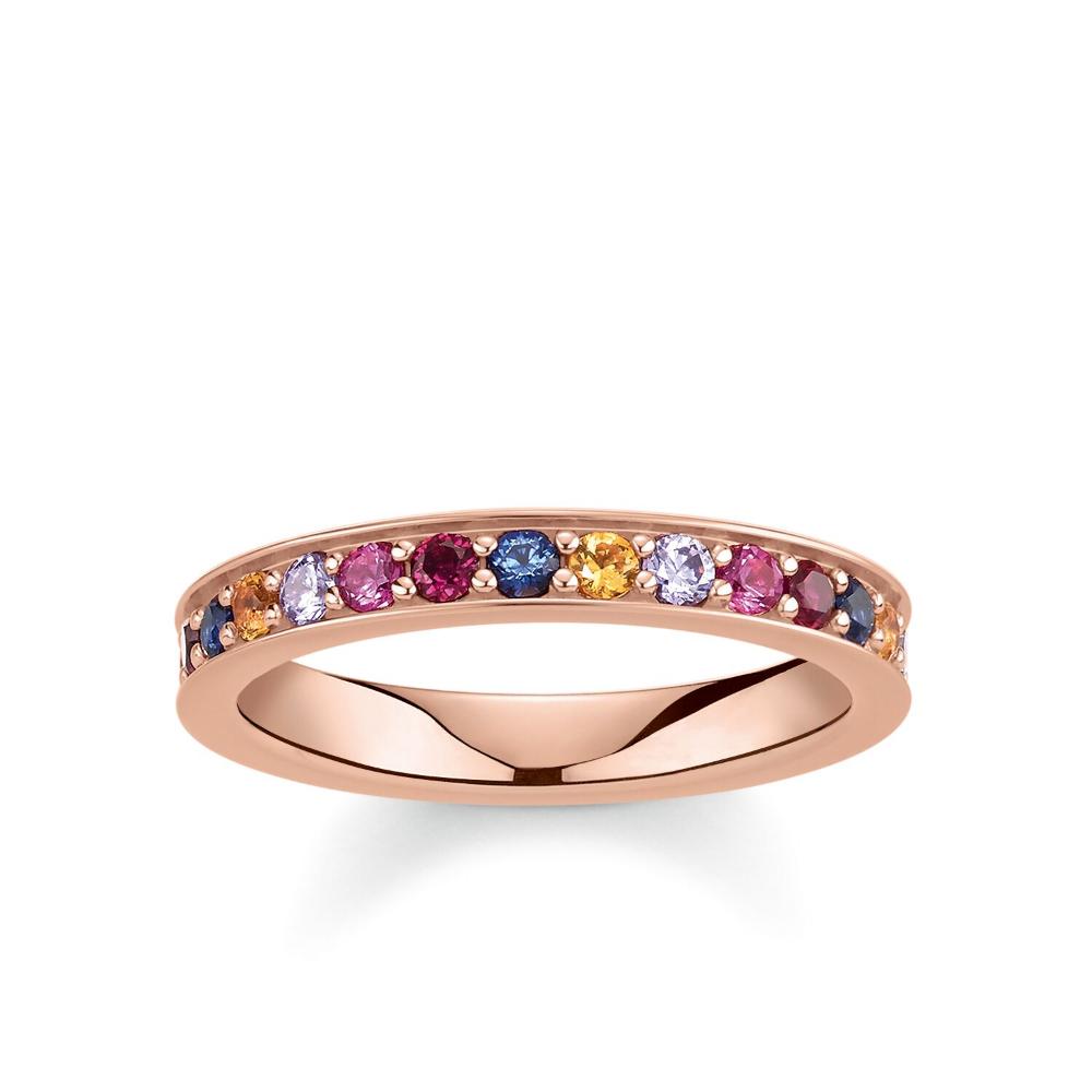 Ring Royalty Colourful Stones Tr2147 068 7 2 Thomas Sabo Schmuckverpackung Vergoldung Rosegold