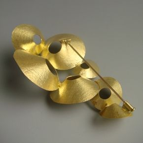 Kayo Saito love this pin back, trumpet design, sliding catch with swivel pin