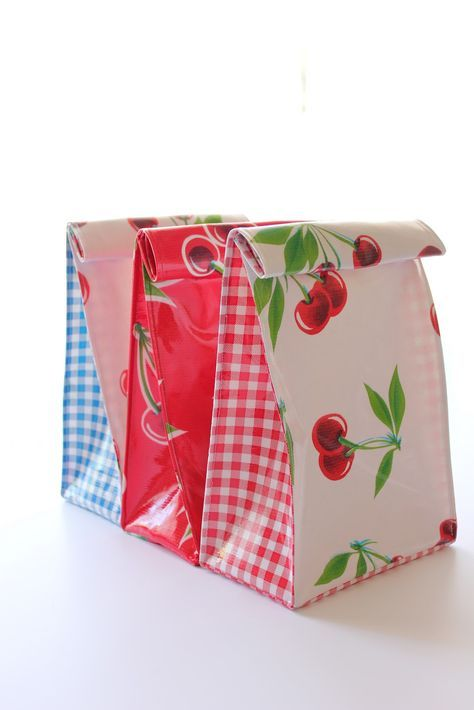 Oilcloth lunch bags i wanted an easter sewing project something i oilcloth lunch bags i wanted an easter sewing project something i could give as a negle Images