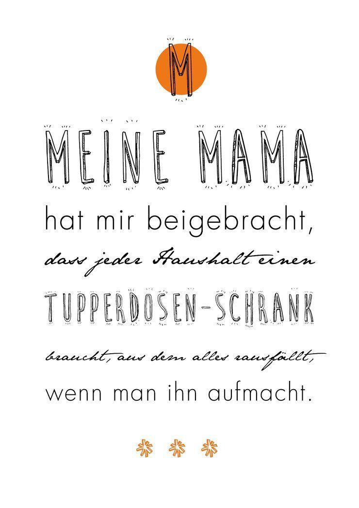 Poster Mit Spruch Meine Mama In 2020 Poster Zitate Lustige Spruche Mama Zitate