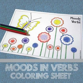 Color By Grammar Moods In Verbs Grammar Activity Grammar