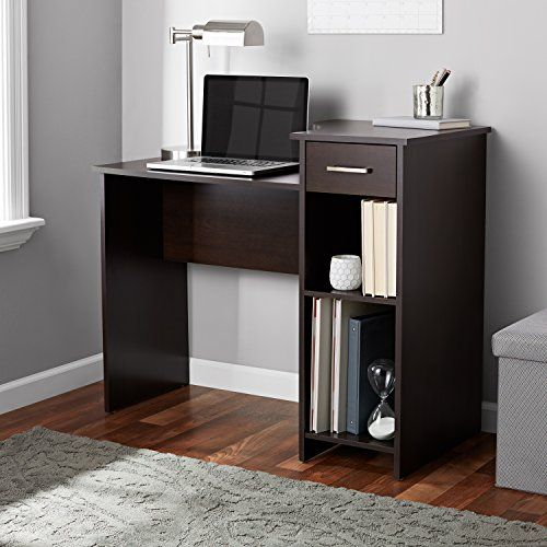 Basic Spacious Working Desk With Drawer And Adjustable Storage Shelf