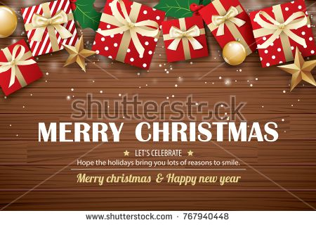 Merry Christmas Poster Background Design Template Typography And