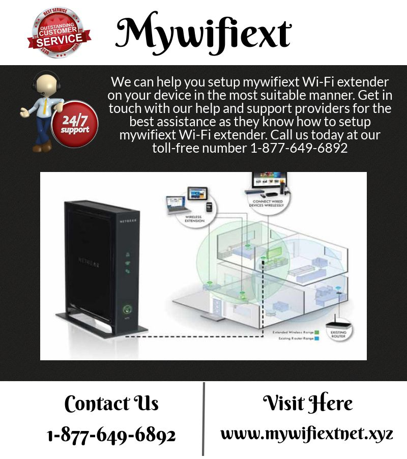 Mywifiext Help Call (Toll-Free) 1-877-649-6892   MyWiFiExt