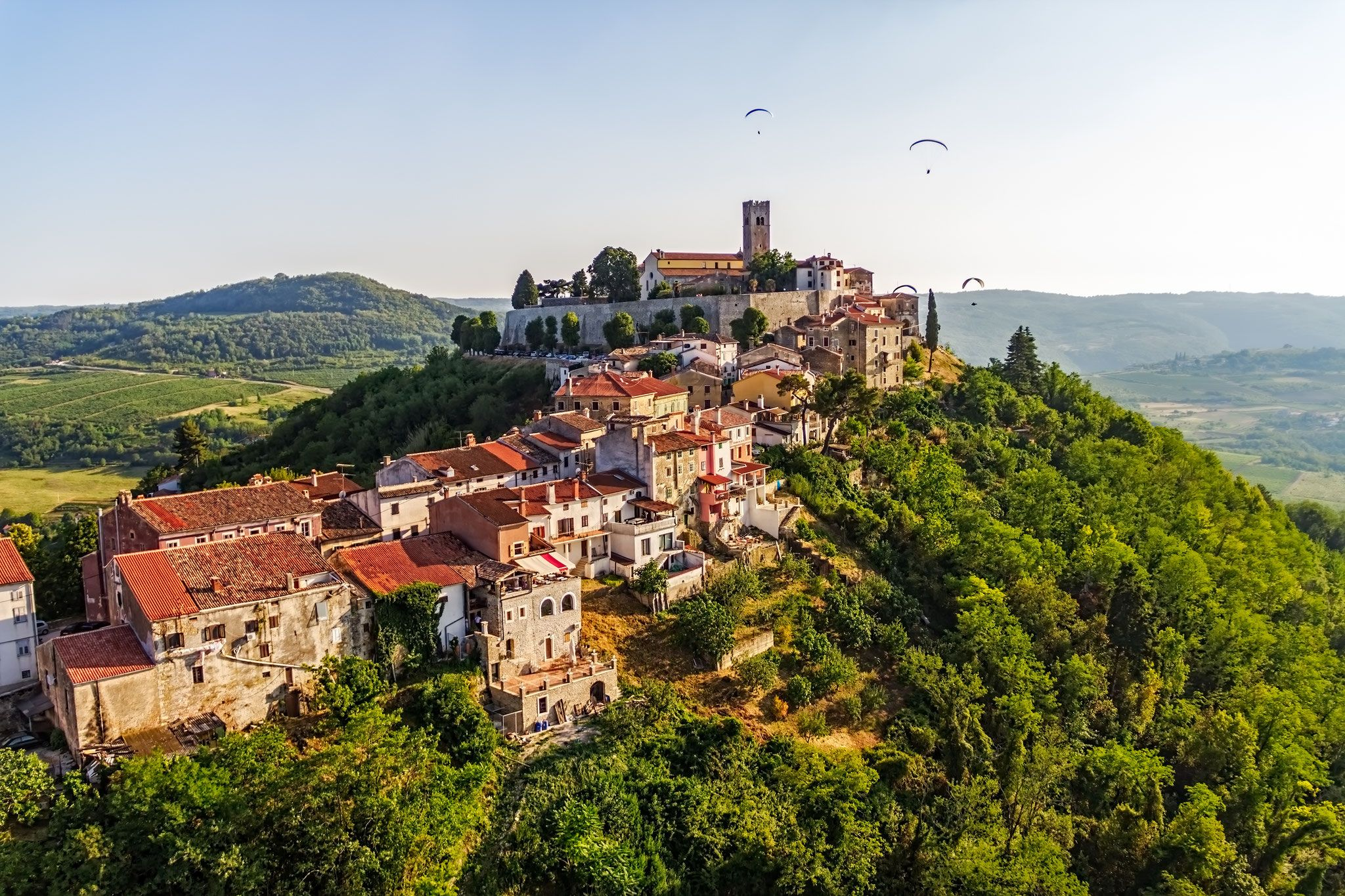 Motovun Is A Small Village In Central Istria Istra Croatia Copyright Opis Zagreb Croatia Tours Croatia Travel Best Honeymoon Destinations