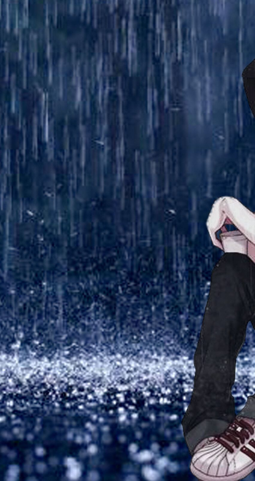 Download Wallpaper 1920x1080 Girl Umbrella Anime Rain Street