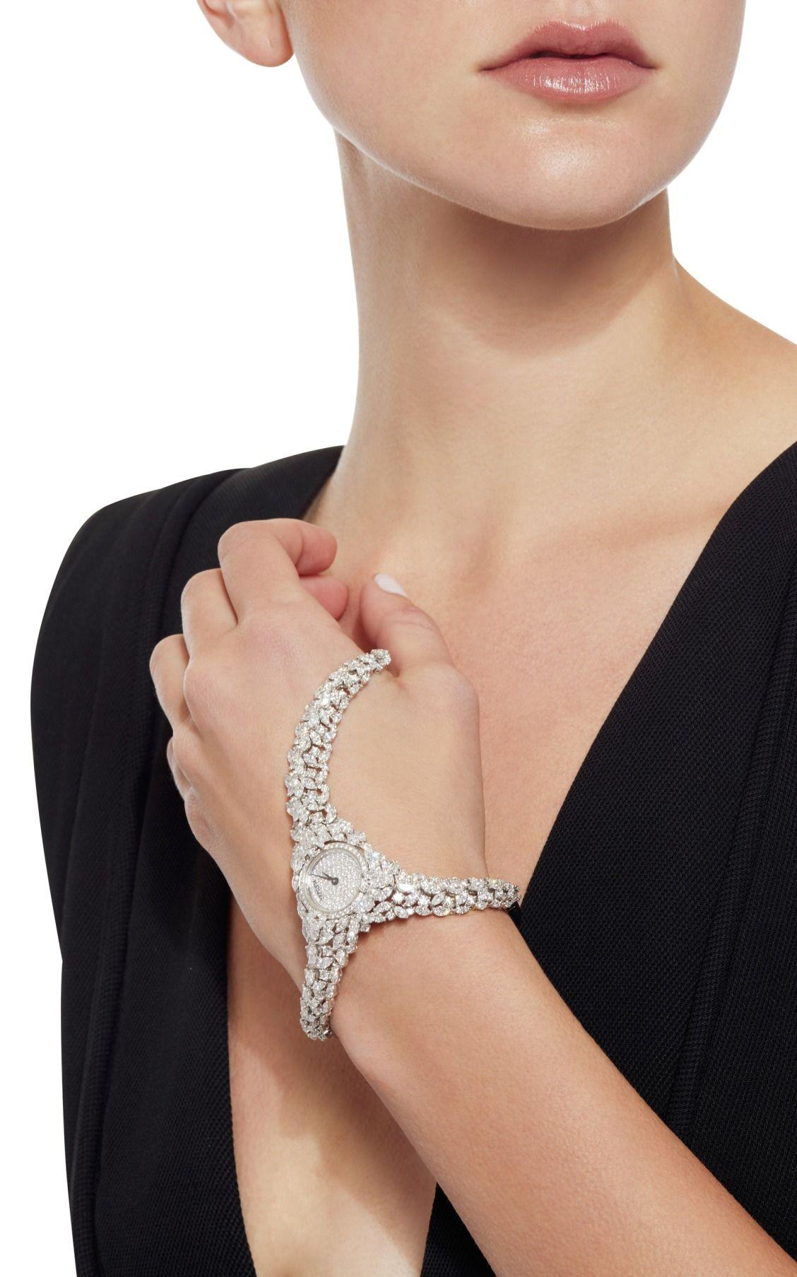 Yeprem 18K White Gold Hand Piece with Round & Marquis Diamonds HEymchc