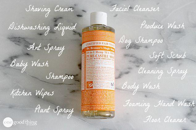how to use castile soap