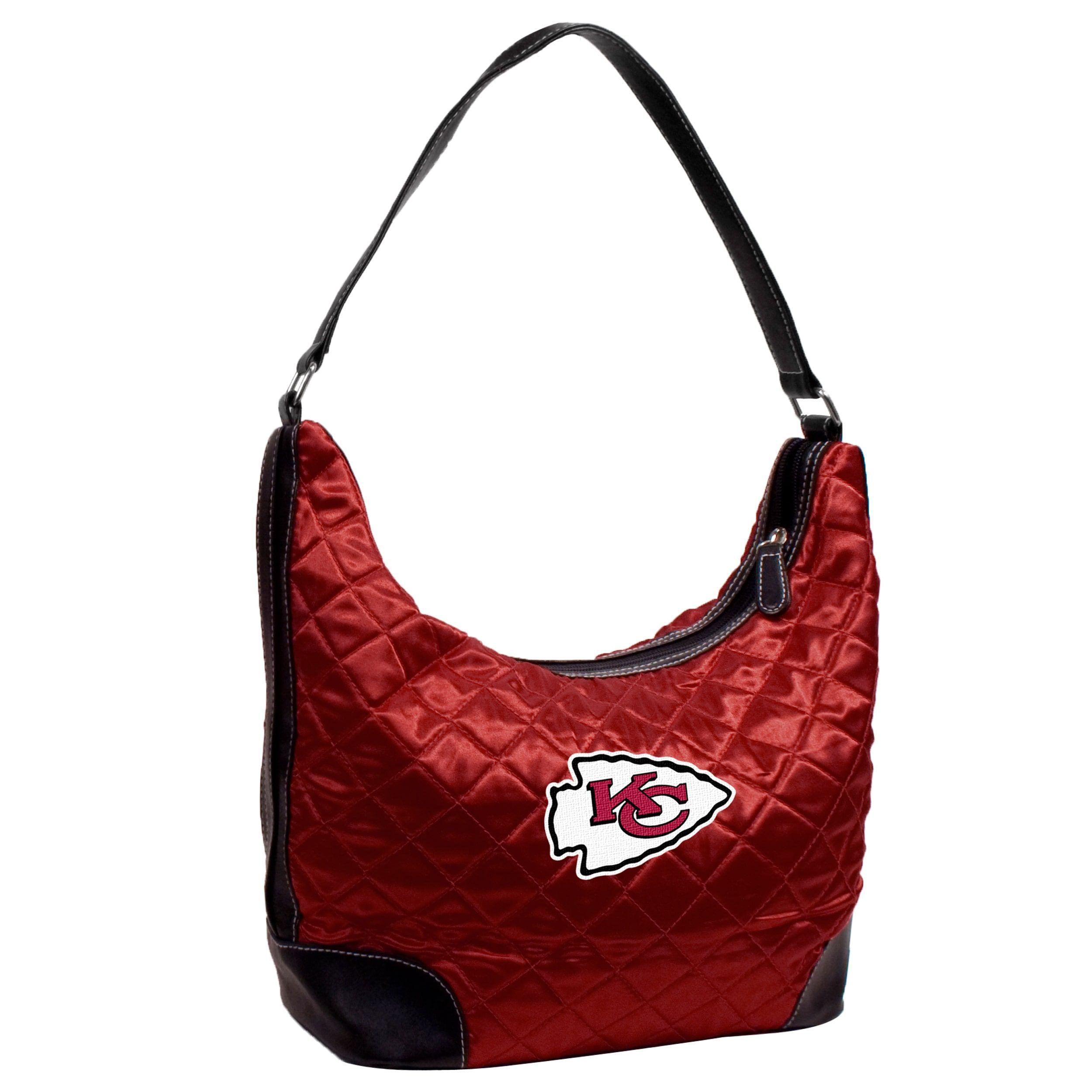 Little Earth NFL Kansas City Chiefs Quilted Hobo Handbag, Women's, Blue