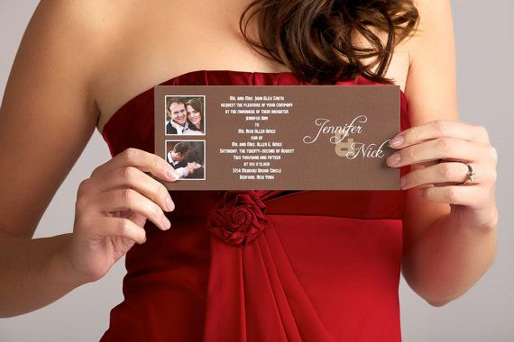 The Detroit  Photo Wedding Invitation Sample by BasicInvite, $0.99
