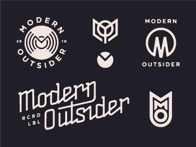 Mdrn Record Label Logo Logo Design Vintage Logo Design