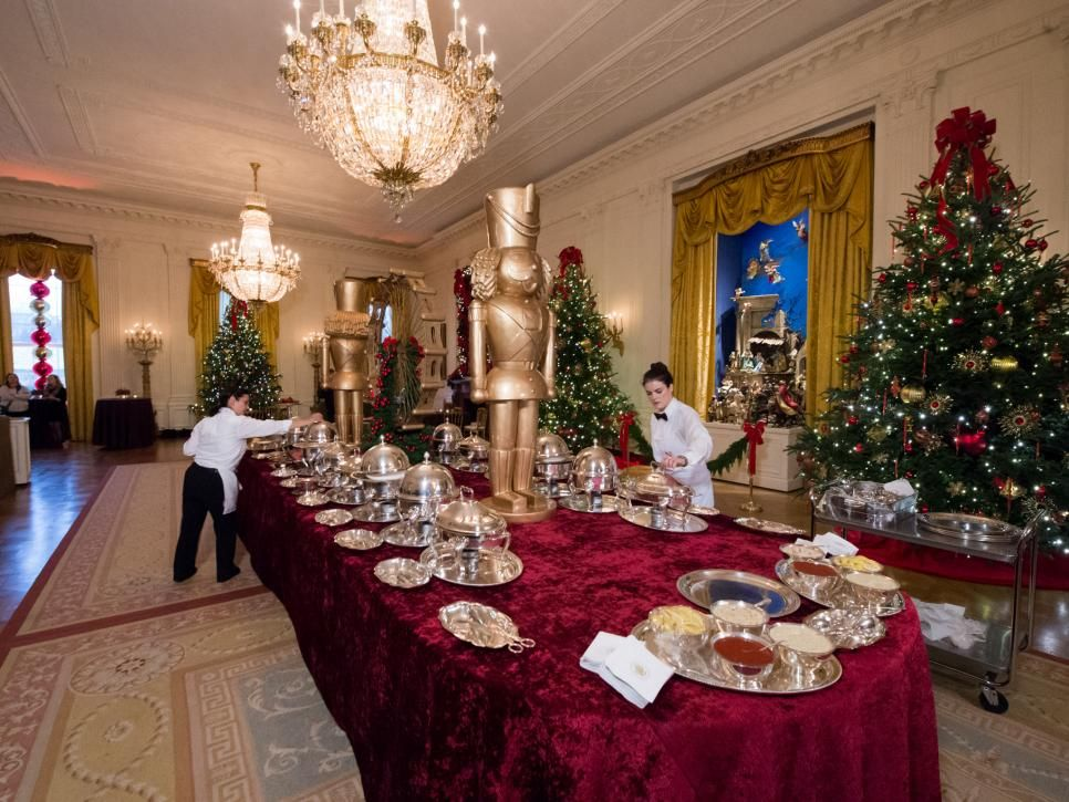 The 2016 White House Christmas Tour The East Room The Creche That Has Been Featured For 45 Ye White House Christmas Tree Christmas Tours White House Christmas