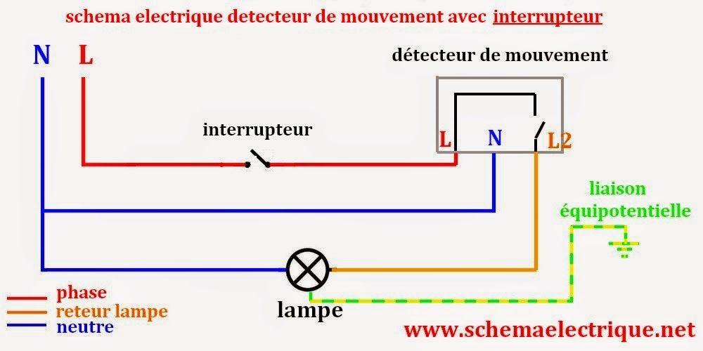 schéma electrique simple détecteur de mouvement - schéma electrique - Plan Electrique Salle De Bain