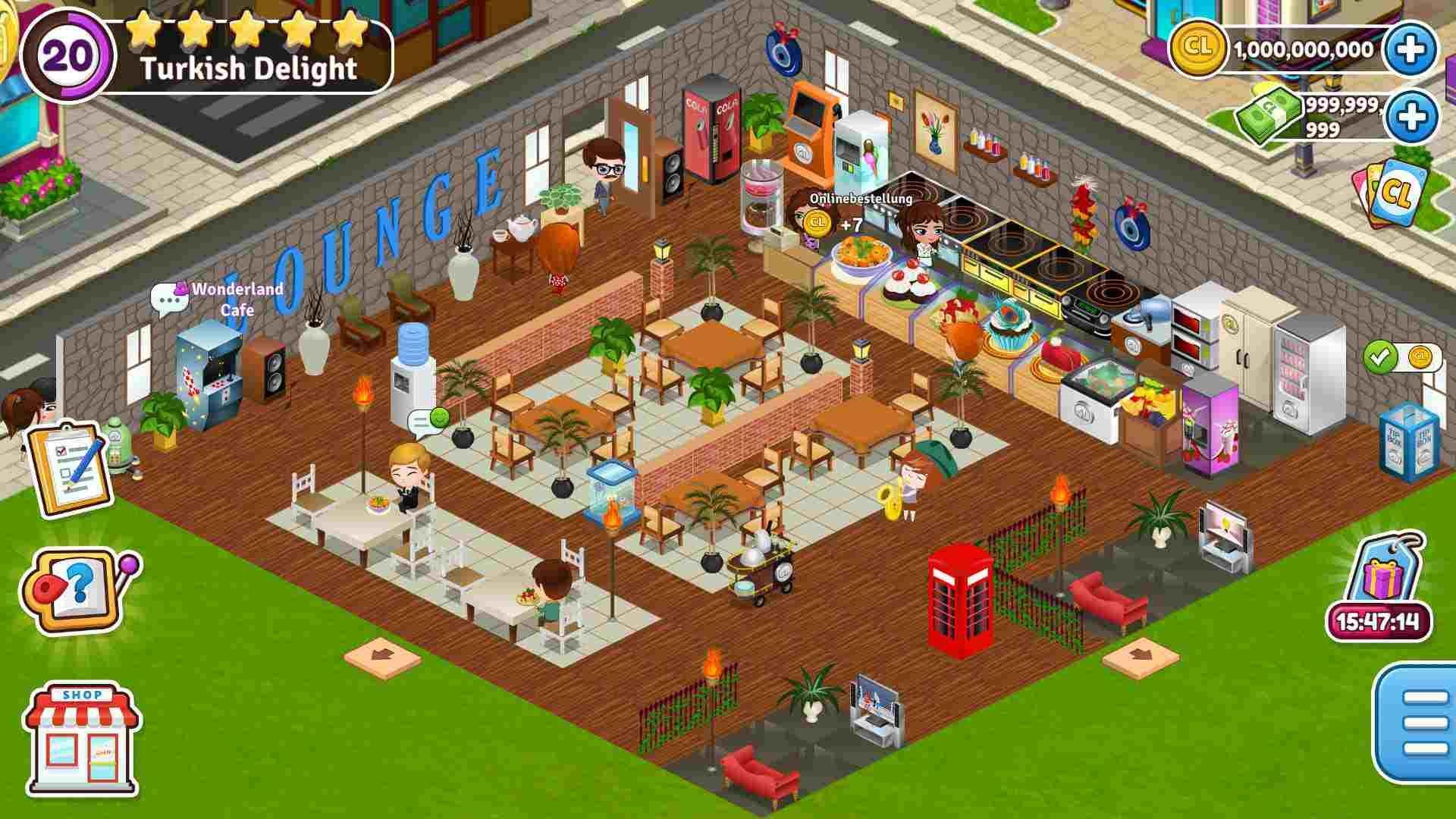 Cafeland world kitchen mod apk unlimited money v2123