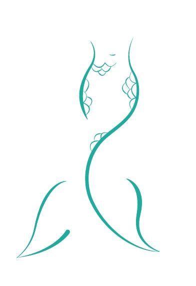 Simple Mermaid Tail Drawing : simple, mermaid, drawing, Karoline, Schmidt, Mermaid, Tattoo,, Tattoos,, Drawing