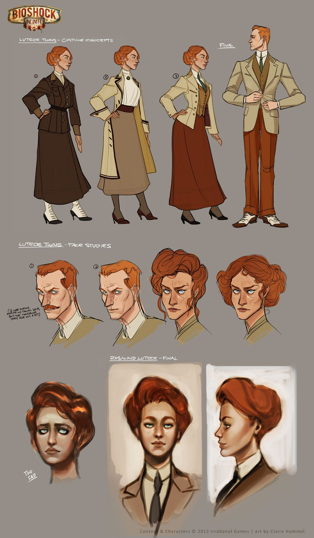 factory authentic a9d23 91444 Designing The Dresses For BioShock Infinite s Elizabeth (And The Lutece  Twins)