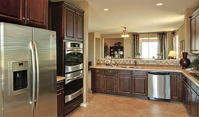 Dream kitchen dark cabinets stainless steel appliances for Dream kitchen appliances