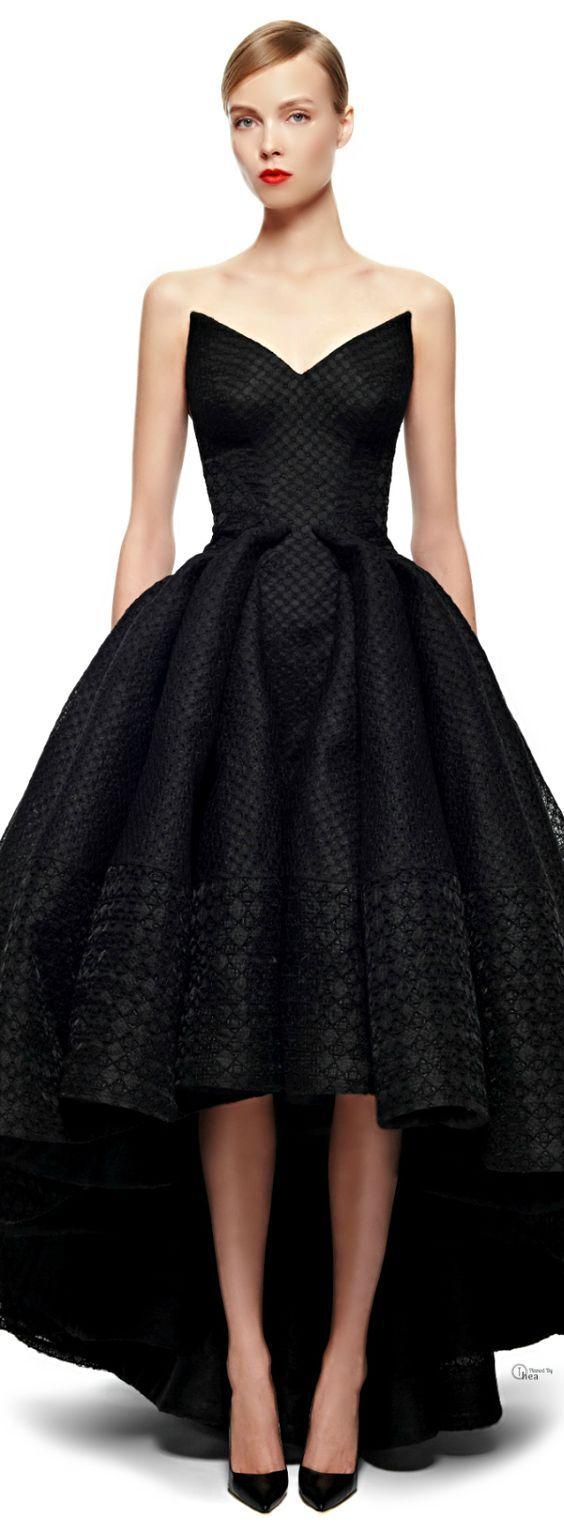 Short Black Zac Posen Cocktail Dress