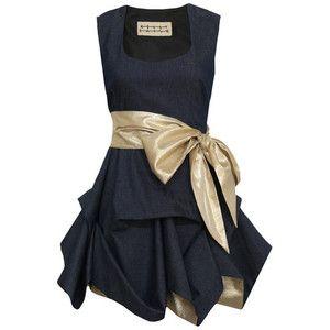 Denim Short Hitched Dress