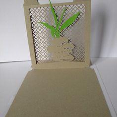 Carte en kirigami, modèle jardin zen