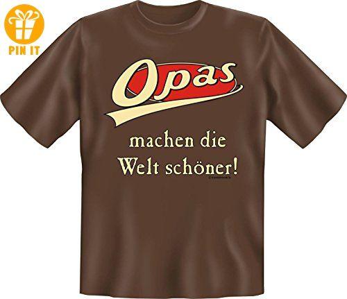 Opas machen die Welt schöner - mit Herz Danke sagen Opa Geschenk T-Shirt -