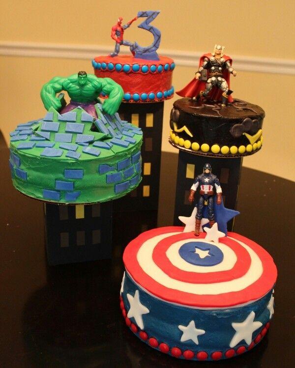 Avengers cakes Kids Parties Pinterest Avenger cake Birthdays
