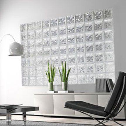 V4 : Brique de verre SDB / salon | Office designs | Pinterest ...