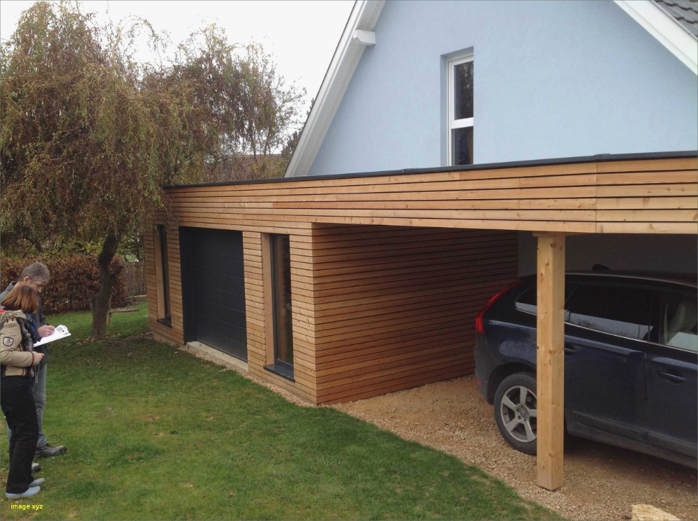 Extension Garage Toit Plat Construction Beau Beton Carport Modern Carport Terrasse