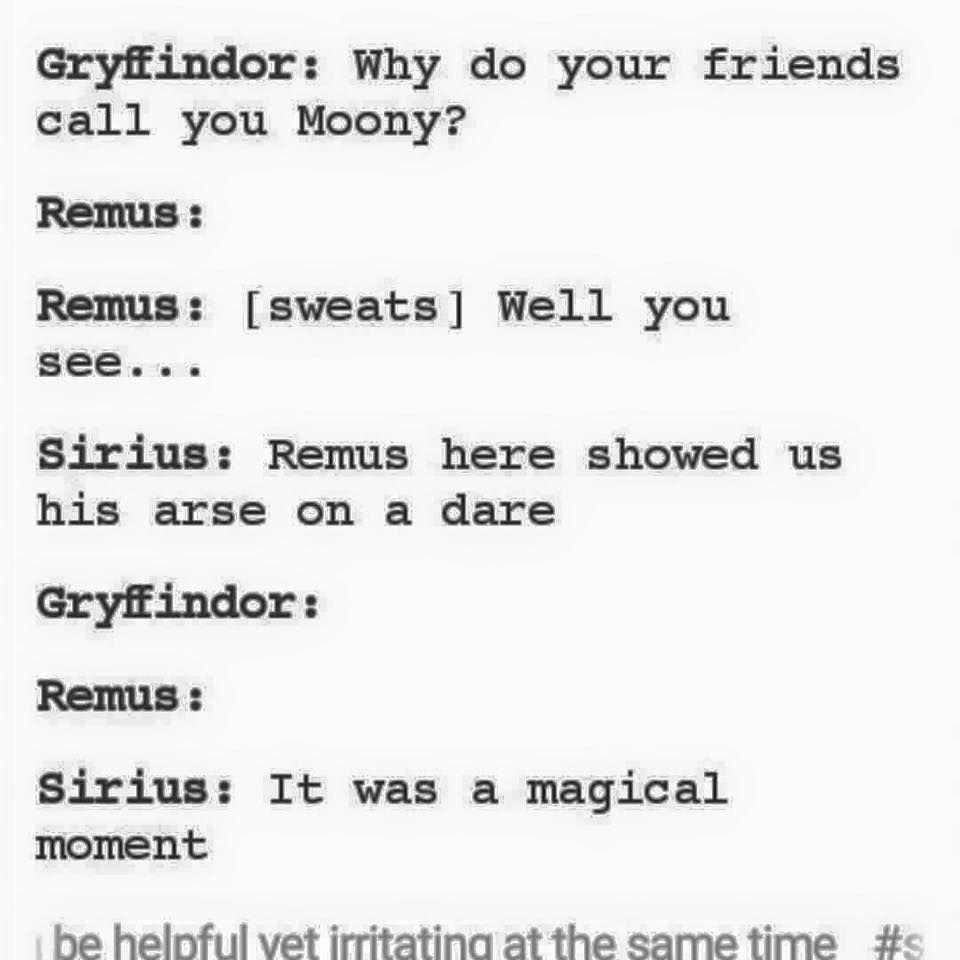 Poor Remus 😂😂😂😂