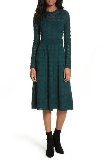 Free shipping and returns on M Missoni Mesh Detail A-Line Dress at  Nordstrom. b1121e1f2924