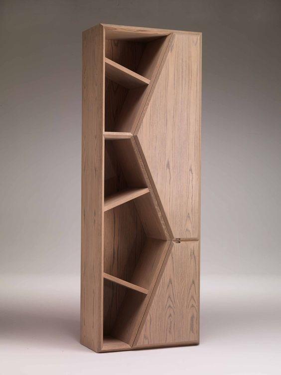 Librero moderno arquitectura cajones furniture - Libreros de madera modernos ...