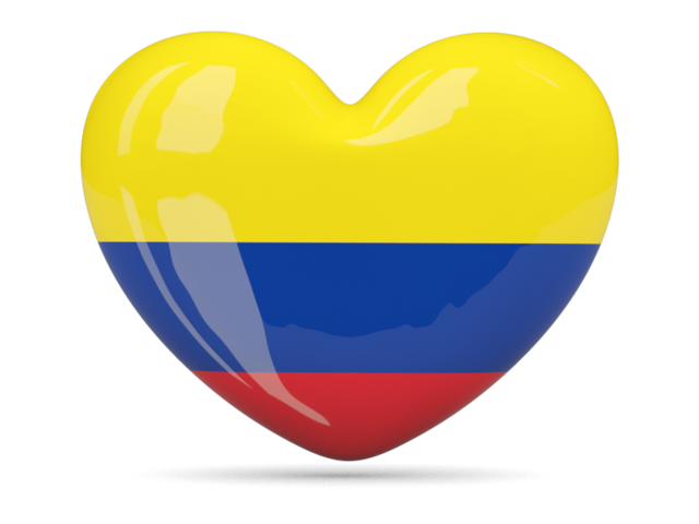 Heart icon. Download flag icon of Colombia at PNG format