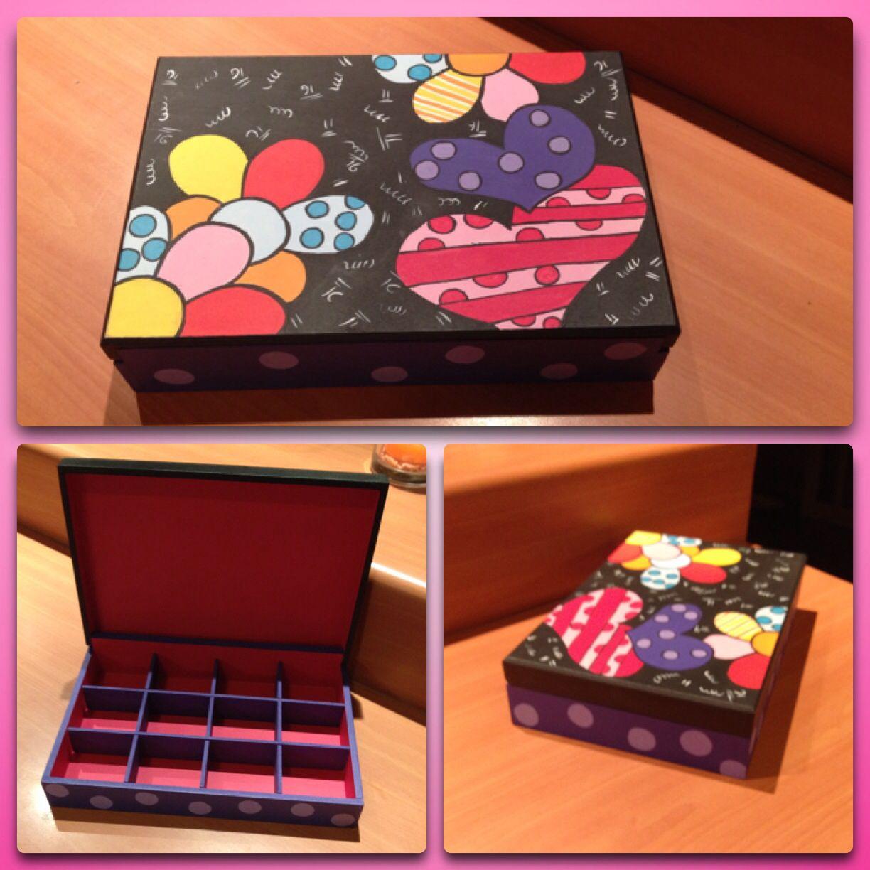 Caja Tipo Britto Cajas Decoradas Cajas Cajas Pintadas