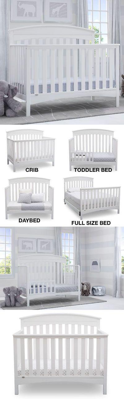 New Delta Children Bennington Elite Arch 4 In 1 Convertible Crib White Convertible Crib White Delta Children Baby Supplies