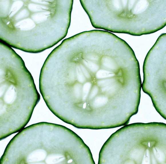 Two Slices Of Cucumber Cucumber Beautiful Fruits Photo