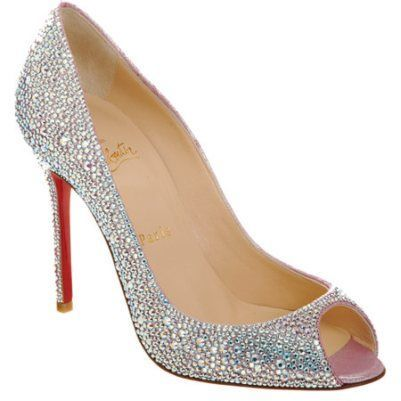 Christian Louboutin Wedding Shoes, Blinged Out Wedding Shoes #wedding #shoes  Click For Purchasing