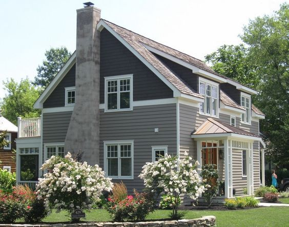 Two Tone Siding House Ideas Google Search House Paint Exterior Gray House Exterior Craftsman Exterior