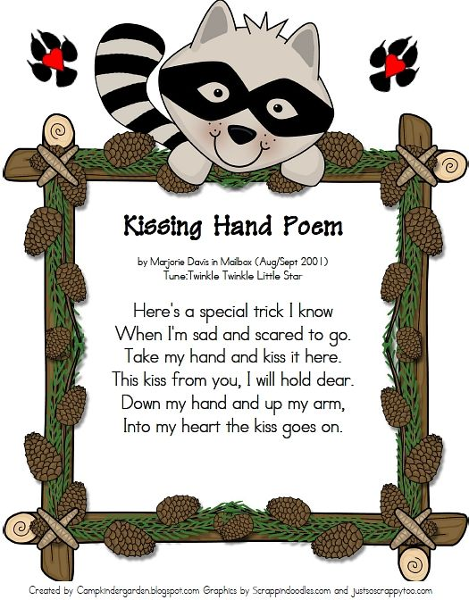 Fall Linky Party Beginning Of Kindergarten The Kissing Hand