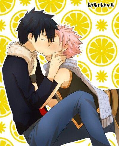 Gratsu Kiss Fairy Tail Gray Natsu Fairy Tail Fairy Tail Anime