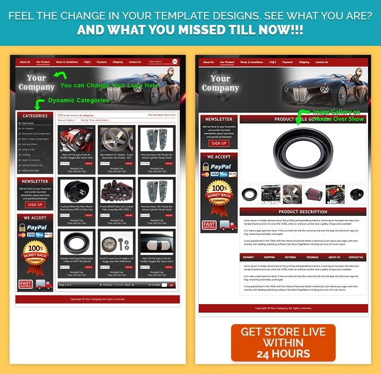 Get Best eBay Store Template& Listing Combo to Sell Car Parts ...