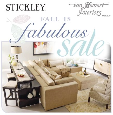 Enjoy Our Stickley Fall Is Fabulous Sale Starting Now