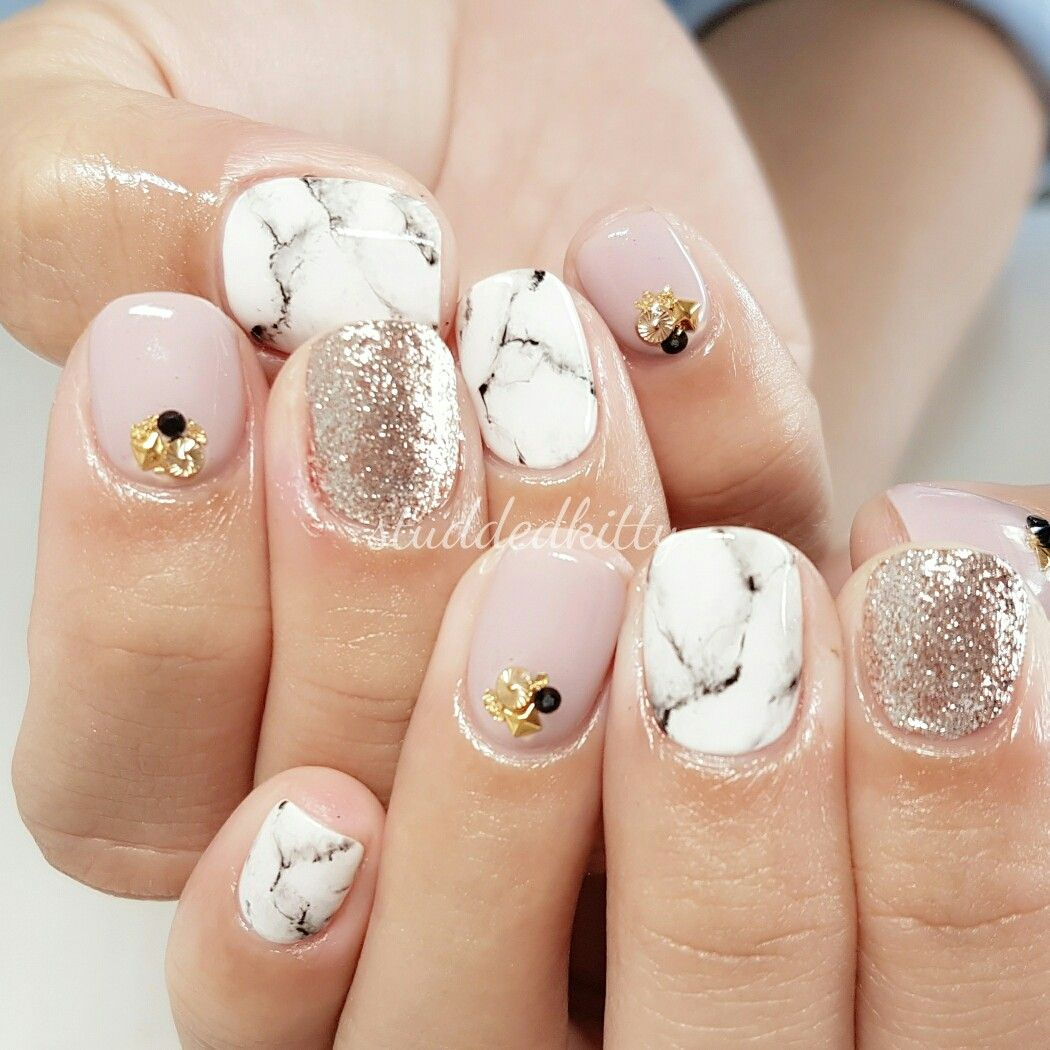 Marble Gel Nails | Nail Art ネイルアート | Pinterest | Marbles ...