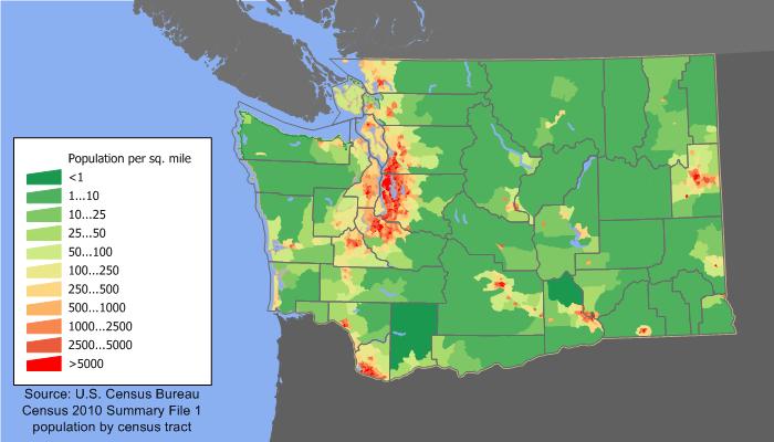 idaho population density map Washington State Population Density Map 2010 Washington State idaho population density map